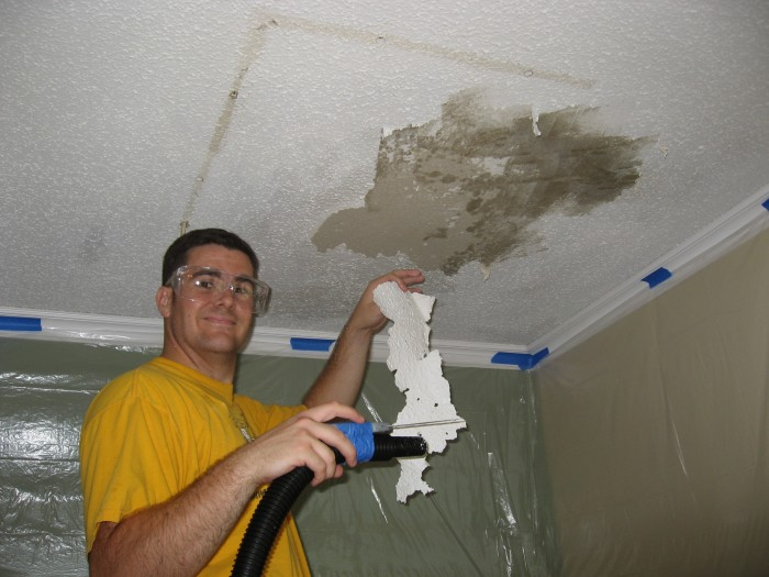 Removing Popcorn from Ceiling