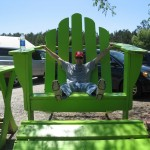 Green Chair, Black Thumbs