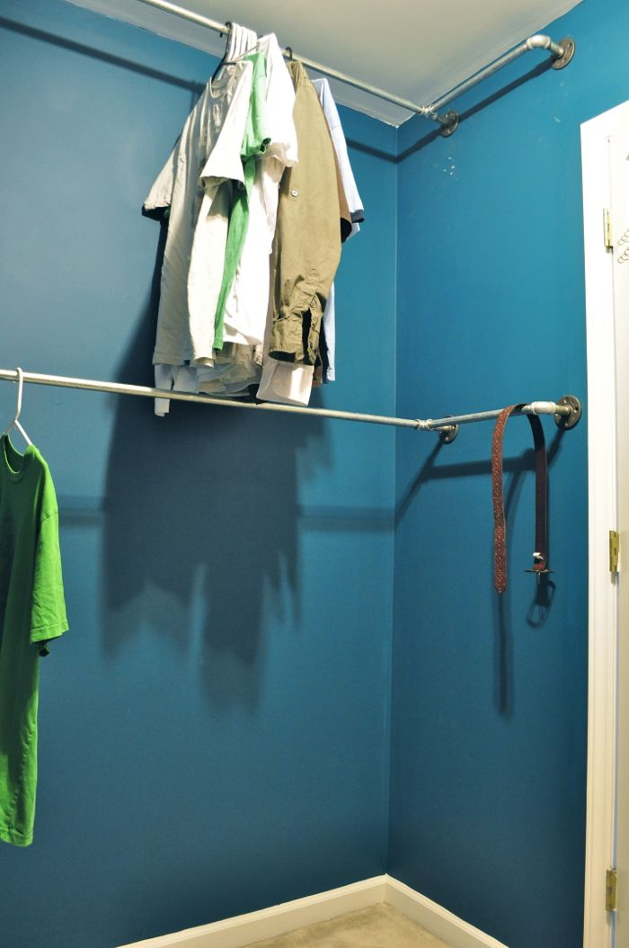 How To Build An Industrial Plumbing Pipe Closet Organizer