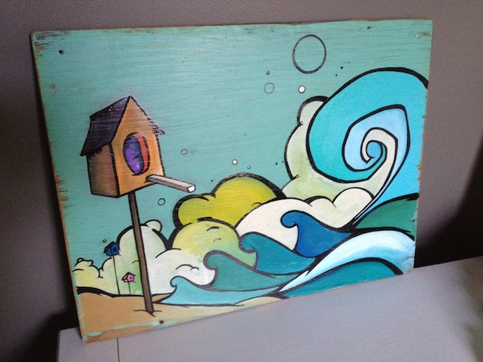 "Mike Johnston Painting ""Beach Houses"""