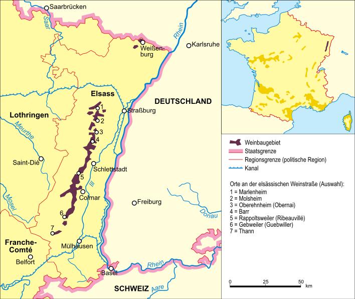 Alsace Wine Region, France