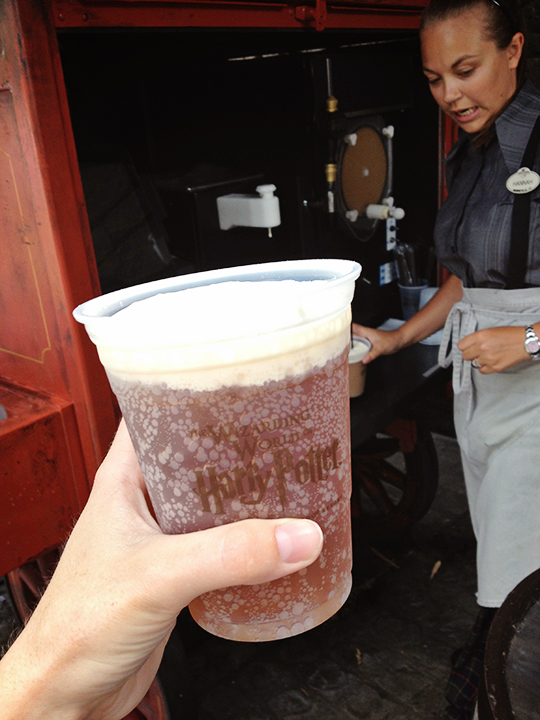 Butter Beer (super rich cream soda topped with super rich dairy-free cream and a whopping $4.25(?) a pop).