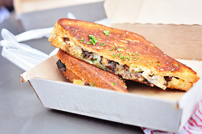 Leek & Mushroom Grilled Cheese from Papi Queso Truck