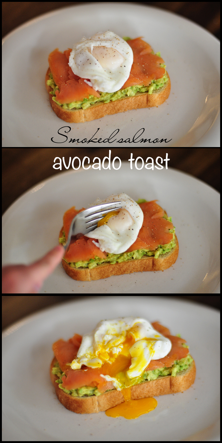 Smoked Salmon Avocado Toast with Poached Egg