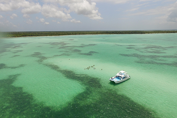 Starfish Cay Drone Shot
